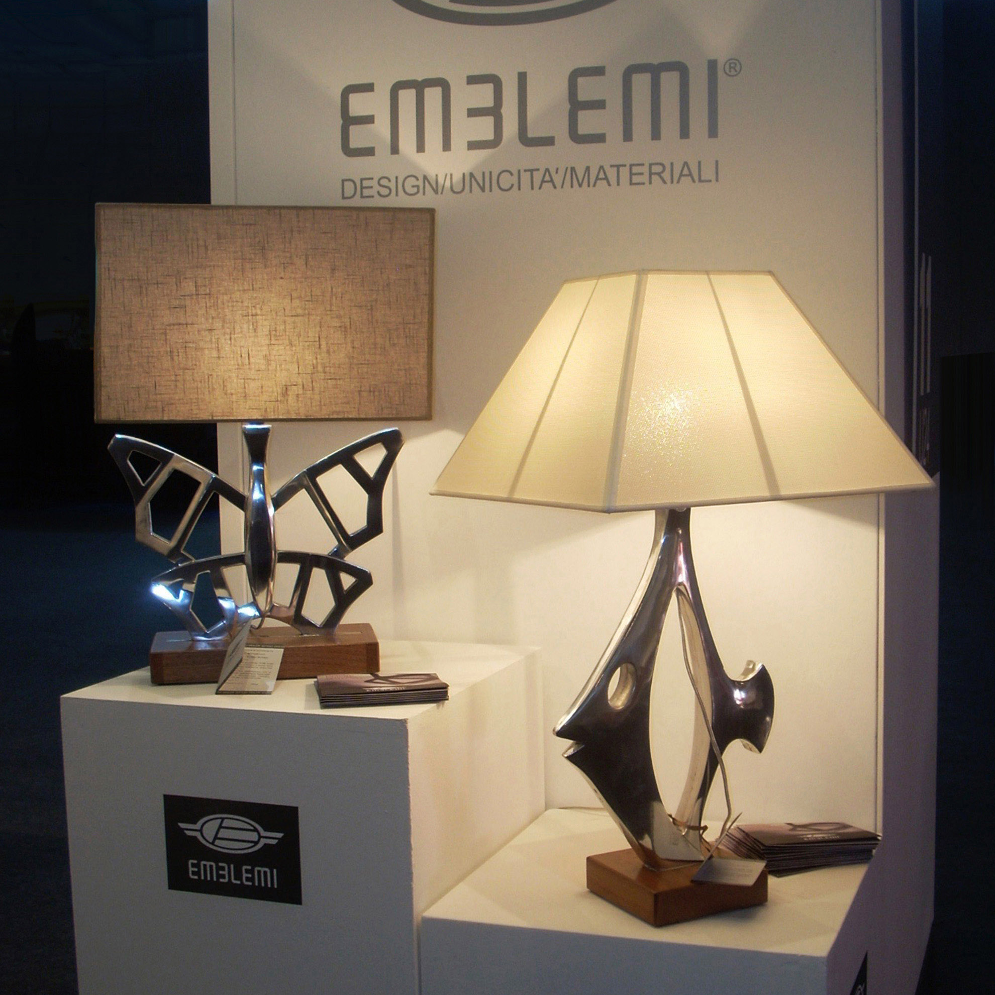 Butterflight and Nemo lamps
